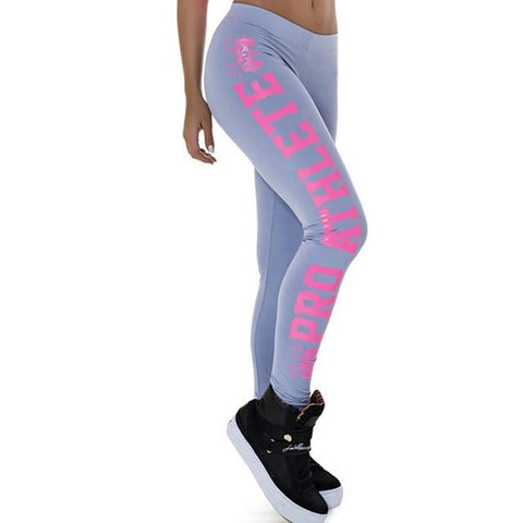 Woman Sports Leggings - Letter Print Sporting Leggings Plus Size High Elastic Slimming Dancing Pants Fitness Female For Bodybuilding Aerobics Exercise