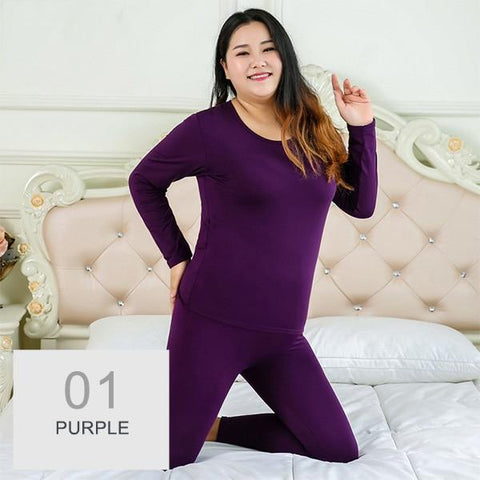 Womans Underware - Autumn Winter Warm Thermal Underwear Set  For Women Plus Size 5XL 6XL Velvet Layered Clothing Pajamas Thermos Long Johns Set