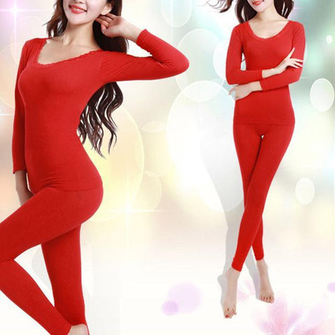 Womans Underware - New Long Johns For Women Fit Size M-XXL Winter Thermal Underwear Suit