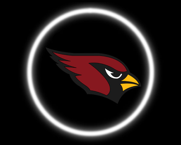 2 Wireless LED Laser Arizona Cardinals Car Door Lights