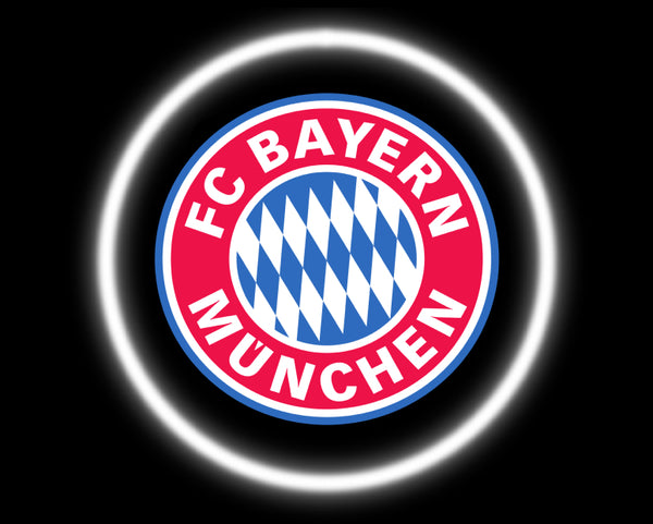 2 Wireless LED Laser Bayern Munich Car Door Lights