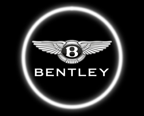 2 Wireless LED Laser Bentley Car Door Lights
