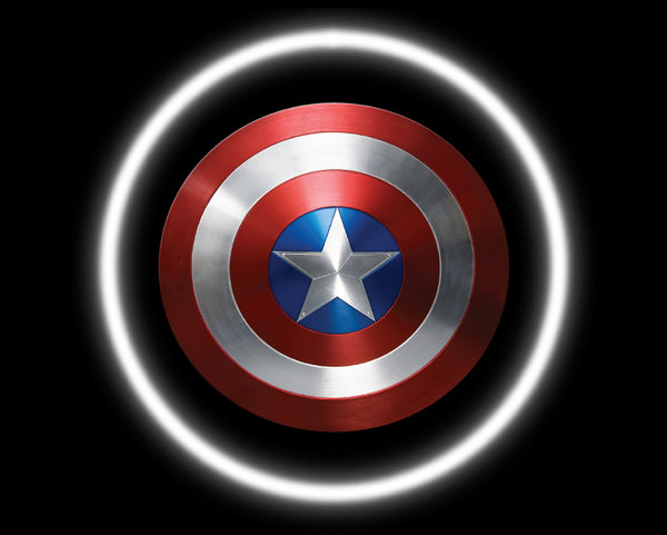 2 Wireless LED Laser Captain America Car Door Lights