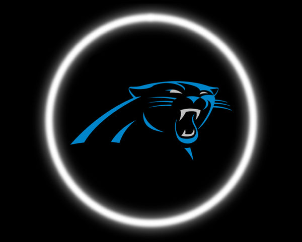2 Wireless LED Laser Carolina Panthers Car Door Lights
