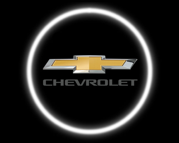 2 Wireless LED Laser Chevrolet Chevy Car Door Lights