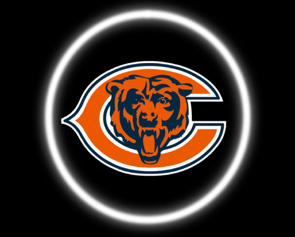 2 Wireless LED Laser Chicago Bears Car Door Lights
