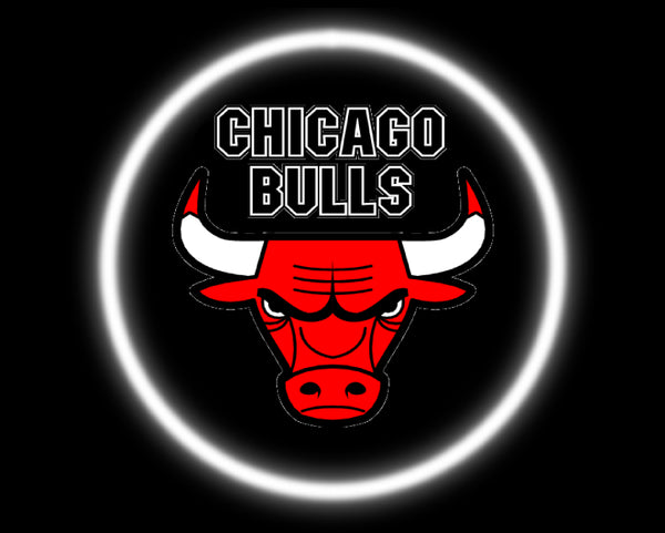 2 Wireless LED Laser Chicago Bulls Car Door Lights