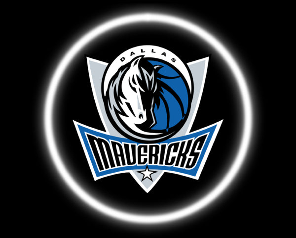 2 Wireless LED Laser Dallas Mavericks Car Door Lights
