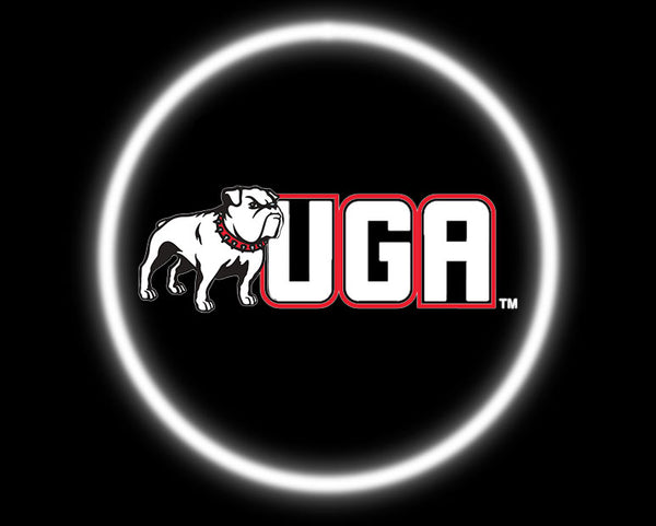 2 Wireless LED Laser Georgia Bulldogs Car Door Lights