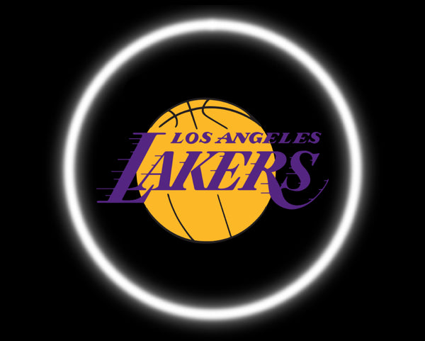 2 Wireless LED Laser Los Angeles Lakers Car Door Lights