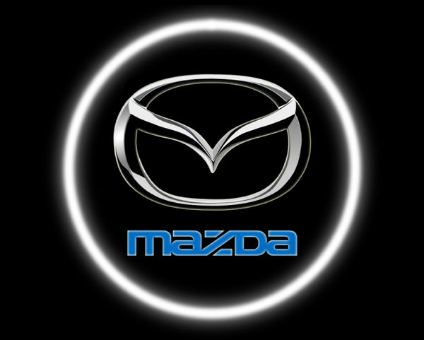 2 Wireless LED Laser Mazda Car Door Lights