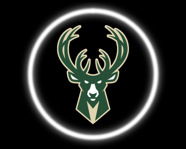 2 Wireless LED Laser Milwaukee Bucks Car Door Lights