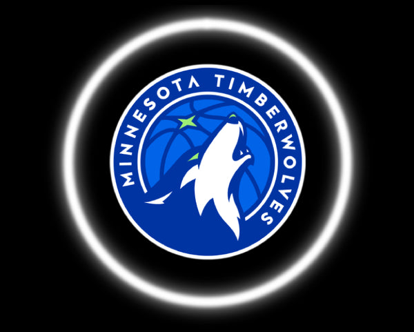 2 Wireless LED Laser Minnesota Timberwolves Car Door Lights