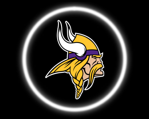 2 Wireless LED Laser Minnesota Vikings Car Door Lights