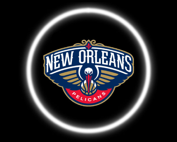 2 Wireless LED Laser New Orleans Pelicans Car Door Lights