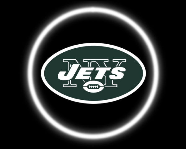 2 Wireless LED Laser New York Jets Car Door Lights