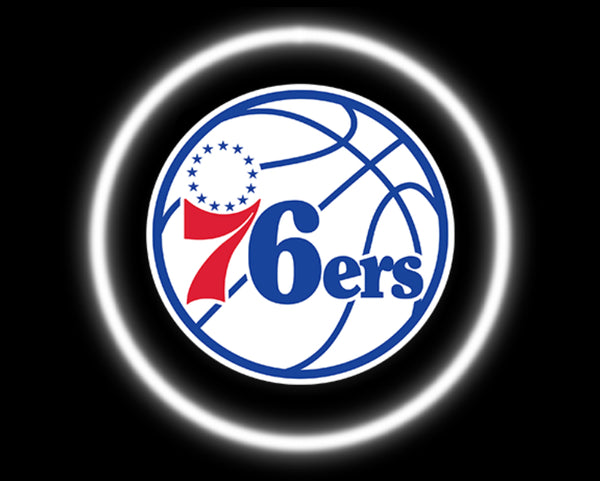 2 Wireless LED Laser Philadelphia 76ers Car Door Lights