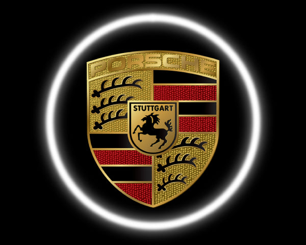 2 Wireless LED Laser Porsche Car Door Lights