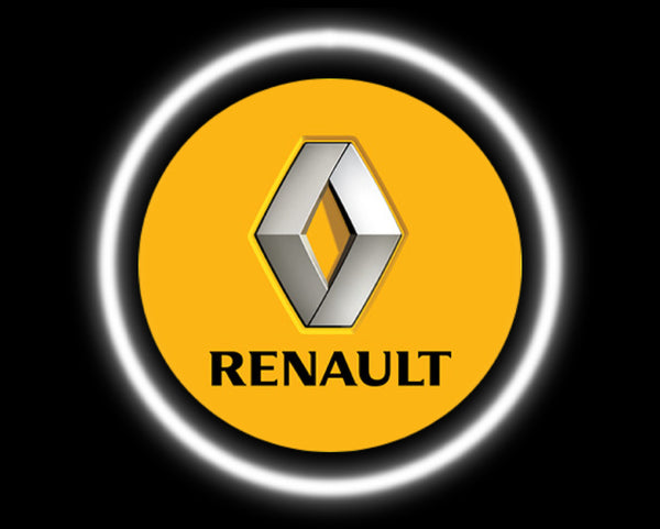 2 Wireless LED Laser Renault Car Door Lights