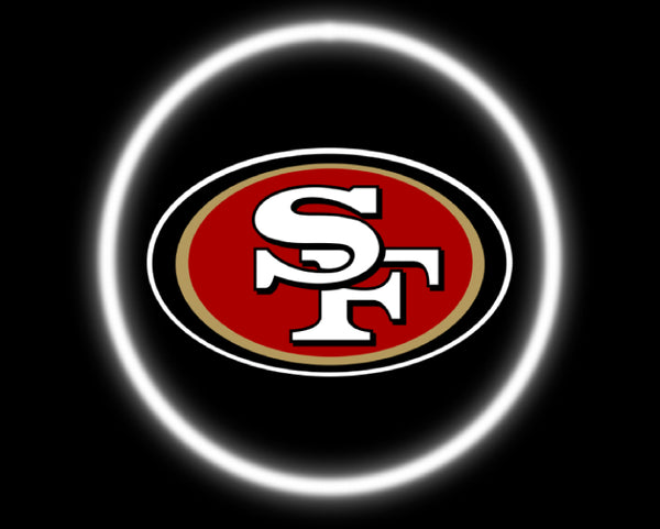 2 Wireless LED Laser San Francisco 49ers Car Door Lights