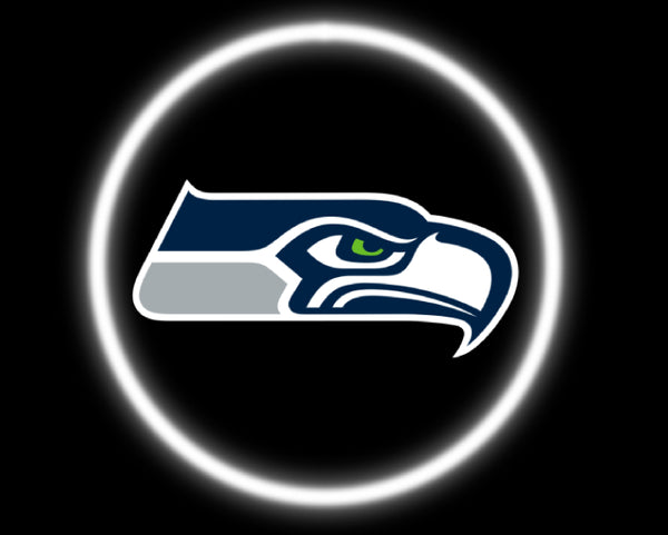 2 Wireless LED Laser Seattle Seahawks Car Door Lights