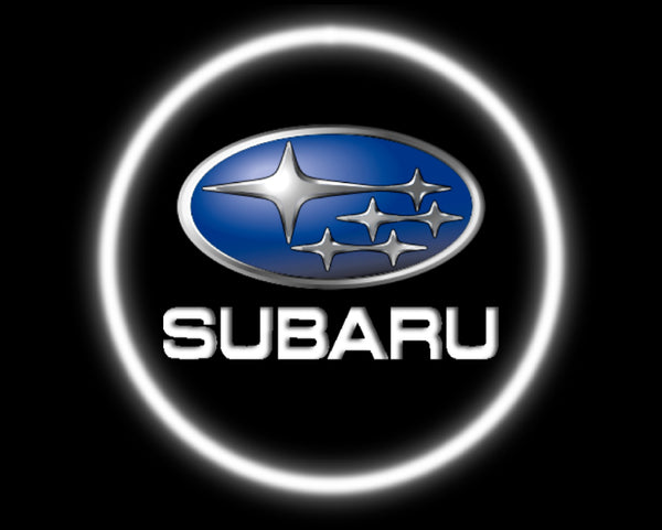 2 Wireless LED Laser Subaru Car Door Lights