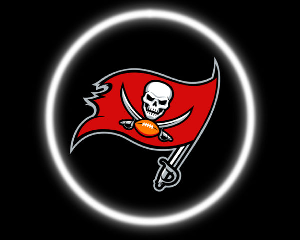 2 Wireless LED Laser Tampa Bay Buccaneers Car Door Lights