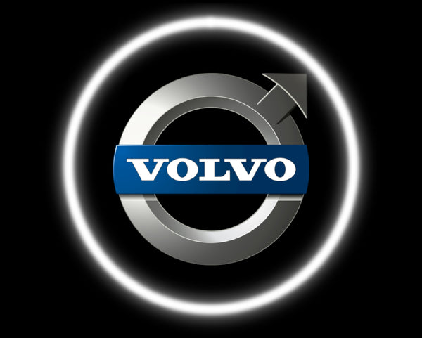 2 Wireless LED Laser Volvo Car Door Lights