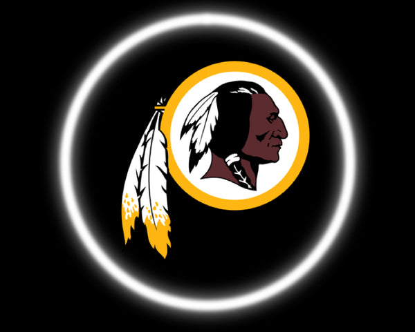 2 Wireless LED Laser Washington Redskins Car Door Lights