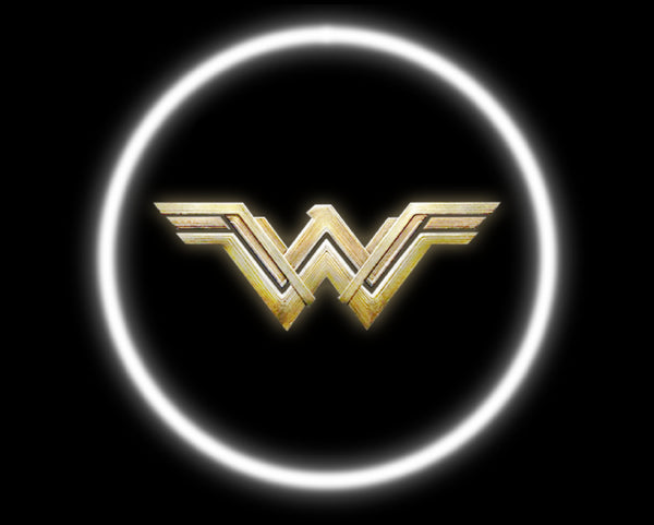 2 Wireless LED Laser Wonderwoman Car Door Lights