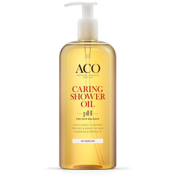 ACO Caring Shower Oil hajusteeton 400 ml suihkuöljy -30 %