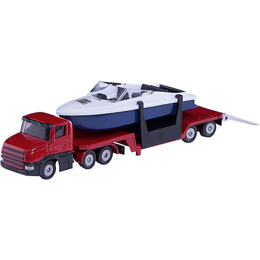 SIKU 1613 Low-Loader with Boat