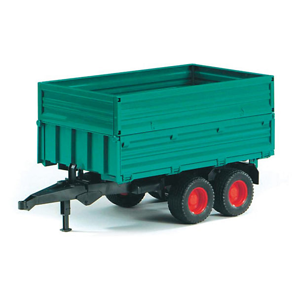 - BRUDER 02010 PSL Tandem Axle Tipping Trailer with Removable Top