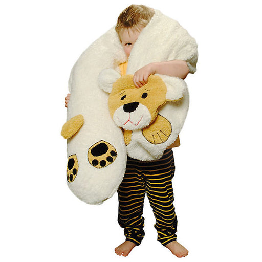 Nursing Pillow with Plush Cover, Bear, approx. 190 cm