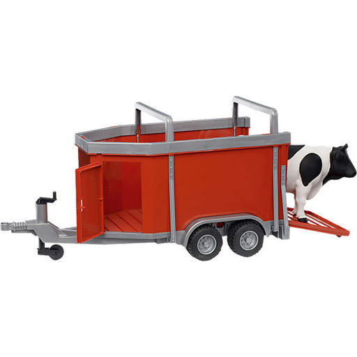 BRUDER 02029 Cattle Trailer with Cow