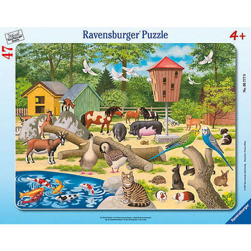 Frame Jigsaw - 47 Pieces - At the Petting Zoo