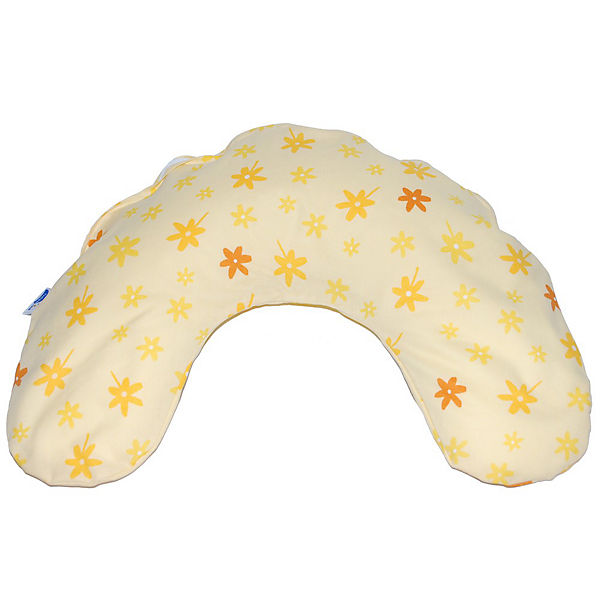 Standard Neck Cushion, Small Flowers, Yellow