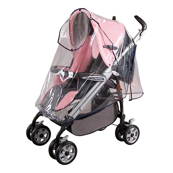 Universal Rain Cover for Buggies, Baby Joggers, Strollers with Protective Flap