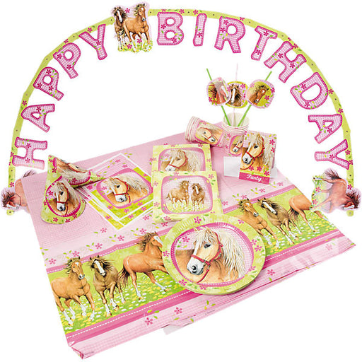 Party Set, Charming Horses, 64 Pieces