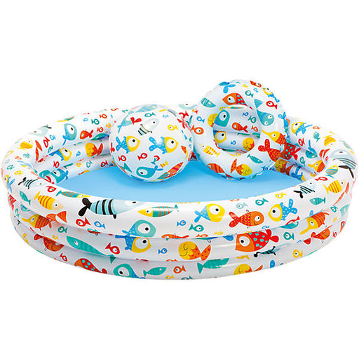 Paddling Pool, Set incl.+ Water Ball and Swimming Ring
