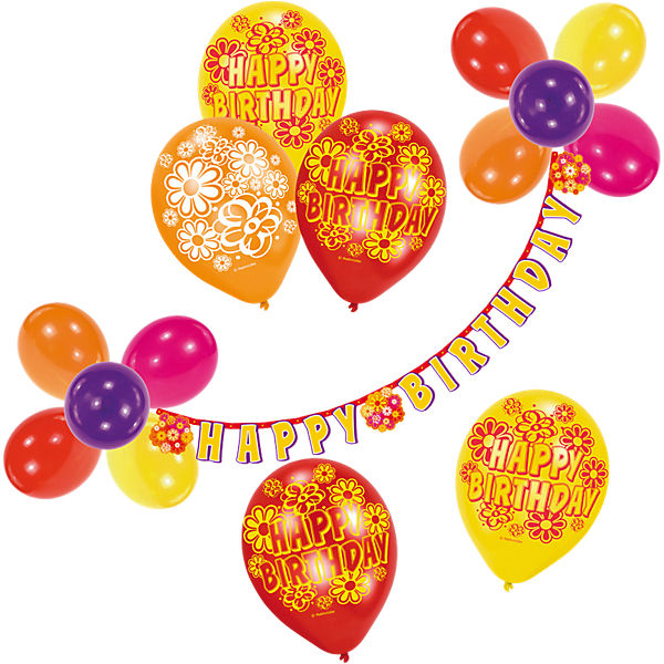 Happy Birthday Balloon Decoration Set, 21 Pieces
