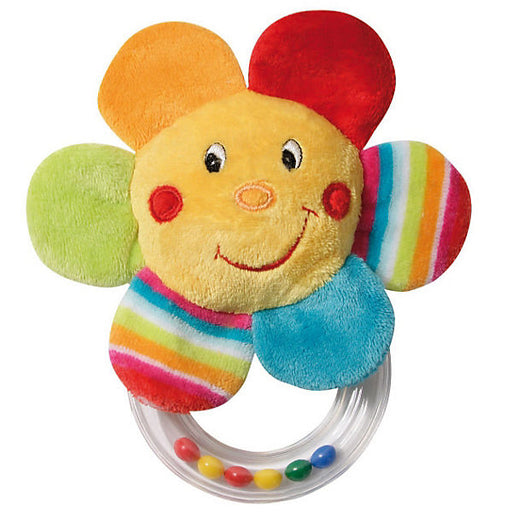 Clutching Toy Flower with a Rattling Ring