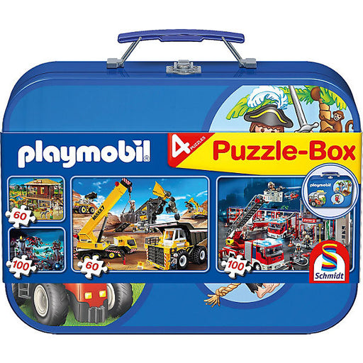 Puzzle Case 2 x 60 Pieces and 2 x 100 Pieces Playmobil