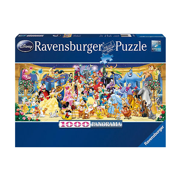 Panoramic Jigsaw Puzzle - 1,000 Pieces - Disney Group Photo
