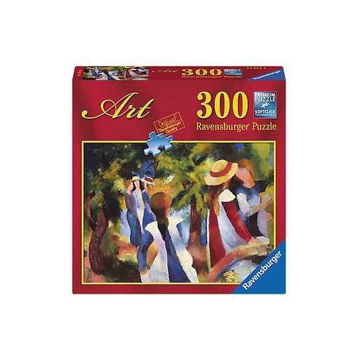 300-piece puzzle, Macke: Girls under Trees