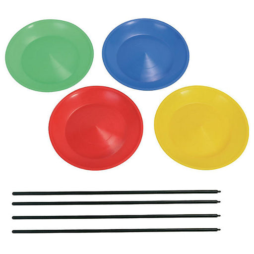 4 Juggling plates with sticks