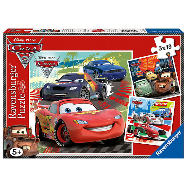Disney Cars: Around the World Racing Fun puzzle, 3x40 pieces
