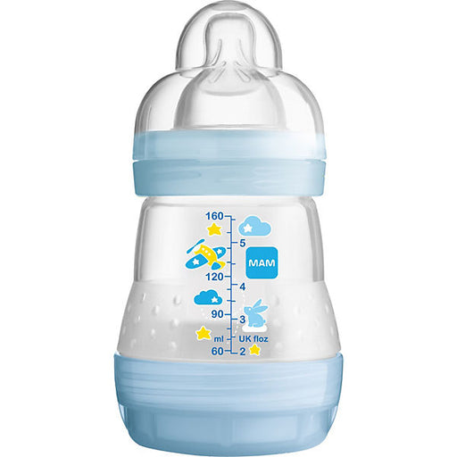 Wide-Necked Bottle, Anti-Colic, Boys, 160 ml, Size 0