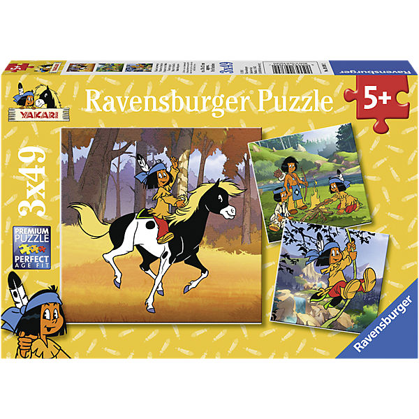 YAKARI: Yakari On the Move - 3 x 49 Piece Puzzle