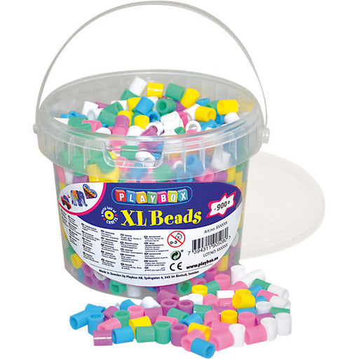 XL beads in bucket, 950 pcs, pastel